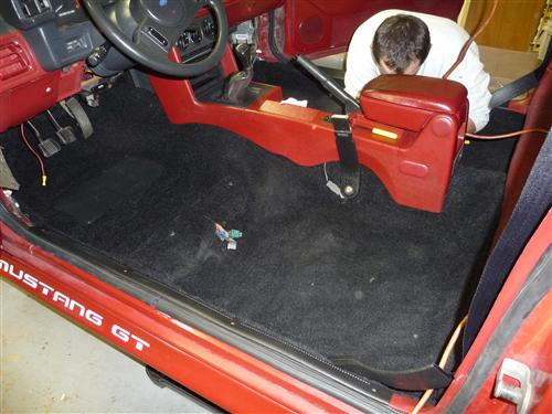 Mustang Floor Carpet Coupe & Hatchback Black (82-93)