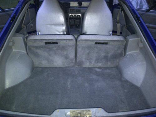 Mustang Hatch Area Carpet Smoke Gray (87-89)