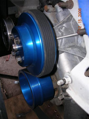 Mustang ASP Blue Aluminum Underdrive Pulley Kit (79-93)
