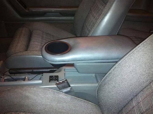 Mustang Center Console Arm Rest Cup Holder Smoke Gray (87-89)