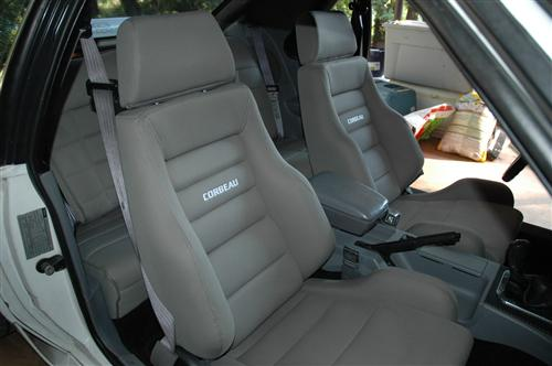 Mustang Corbeau GTS 2 Seat Pair Gray Cloth