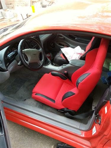 Corbeau A4 Seat Pair Red Cloth