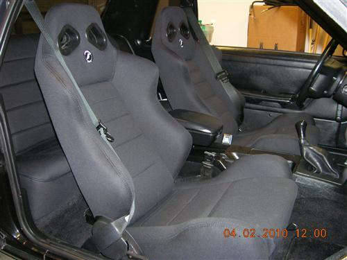 Mustang Corbeau Rear Seat Upholstery Black Cloth (79-93) Coupe