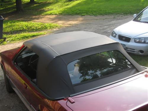 Customer Image - Mustang Black Convertible Top Kit (83-90)