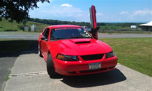 Mustang Windshield Banner Red (94-04)