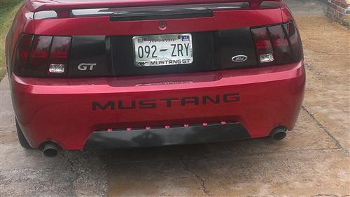 Mustang Rear Bumper Insert Decals Black (99-04)