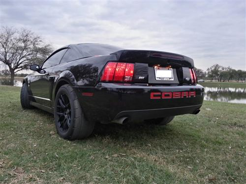 Mustang Cobra Rear Bumper Inserts Red (03-04)