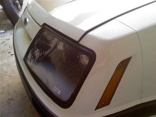 Mustang Headlight Covers  Clear  (85-86)