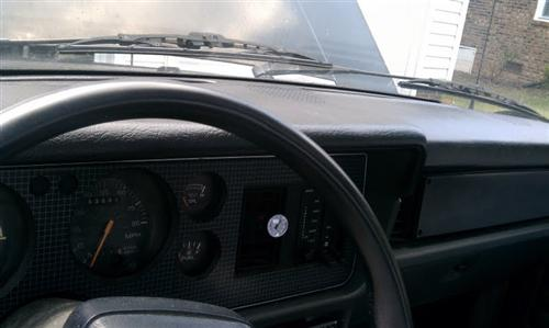 Mustang Dash Cover, Plastic Black (79-86)