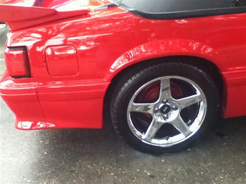 Mustang 4 Lug 2003 Cobra Wheel - 17X9 Chrome (79-93)