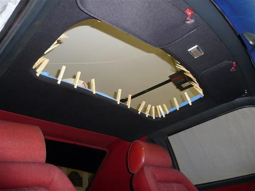 Mustang Headliner with Abs Board Black Cloth (83-93) Hatchback with Sunroof