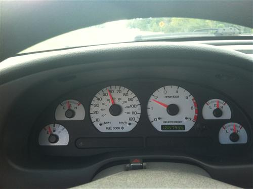 Mustang White Face Gauge Kit (99-04) GT V6