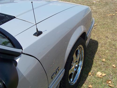 "1979-09 Mustang SVE Black 8"" Shorty Antenna Mast"