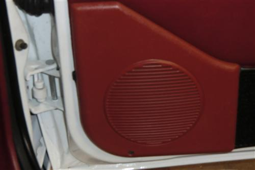 Mustang Door Speaker Grilles, Sold As Pair Scarlet Red (87-93)