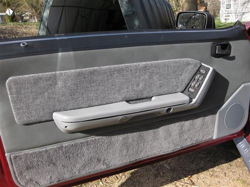 Mustang Deluxe Door Panels for Convertible  w/ Power Windows Smoke Gray (88-89)