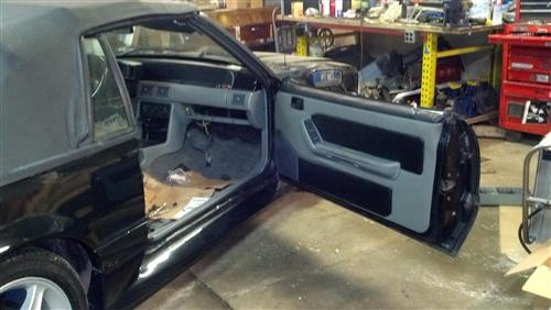 Mustang Door Panels Smoke Gray (87-89)