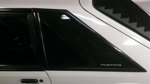 Mustang Quarter Window Molding Covers (87-93) Hatchback