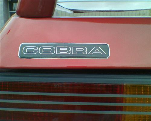 Mustang Cobra Hatch Decal (1993)