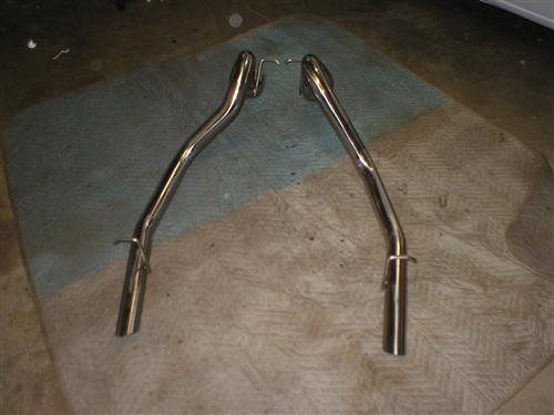 "1986-97 Mustang 2.5"" Stainless Steel LX Tailpipes"