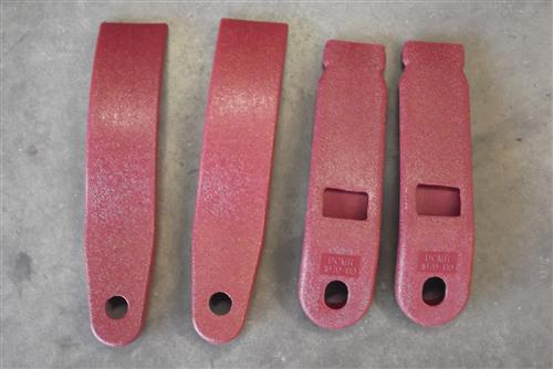 Mustang Front Seat Belt Sleeve Kit Scarlet Red (87-89)