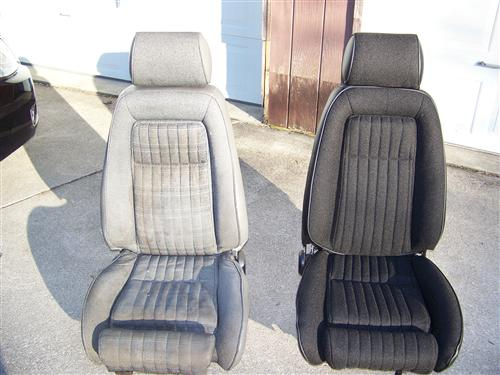 Mustang Sport Seat Upholstery Black Cloth (87-89) Hatchback