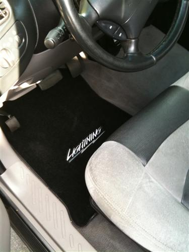 SVT Lightning Floor Mats with Lightning Logo Black  (99-04)