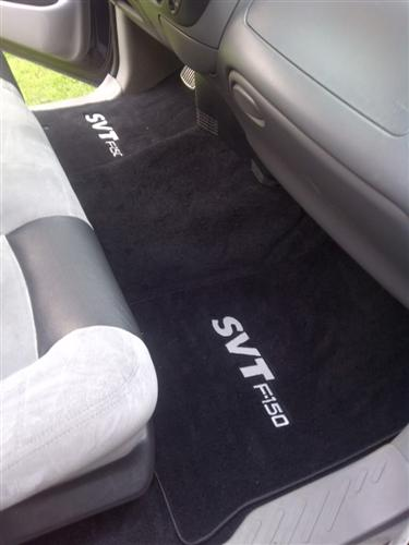 SVT Lightning Floor Mats with Svt F150 Logo Black  (99-04)