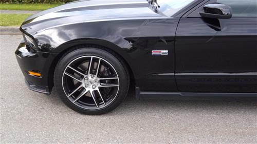 Mustang Ford Racing 2012 Boss 302 Laguna Seca 19X9 Black With Machined Face (05-14)