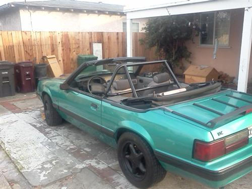 Mustang Maximum Motorsports  Nhra 6 Point Rollbar w/ Swing Out Door Bars And Welded Brace (79-93) Convertible