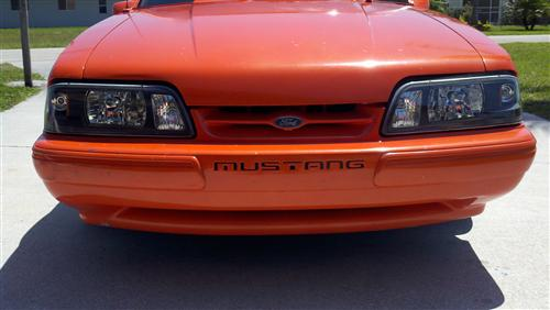 Mustang Black One Piece Headlight Kit (87-93)