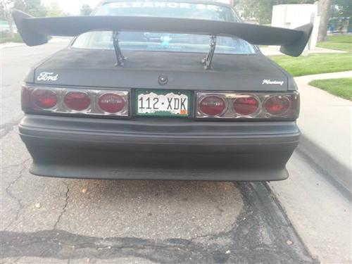 Mustang Smoked Euro Altezza Tail Lights (87-93)