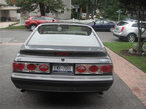 Mustang Clear/Chrome Euro Altezza Tail Lights (87-93)