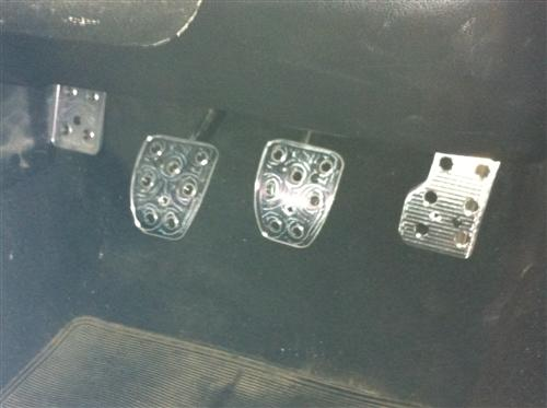 Mustang Manual Pedal Kit, 4pc Billet Aluminum (79-04)