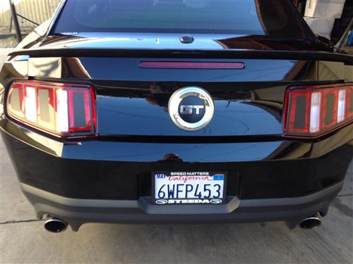 Mustang Taillight Decal Flat Black Vinyl (10-12)