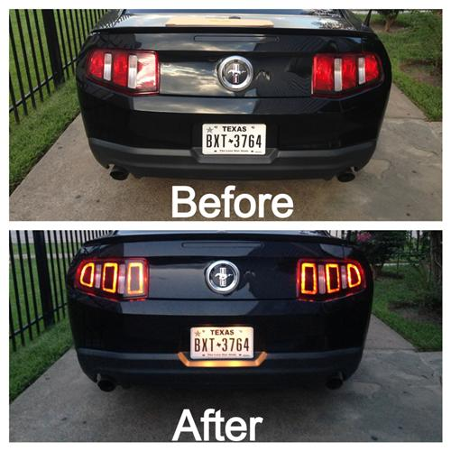 Mustang Taillight Decal Gloss Black Vinyl (10-12)