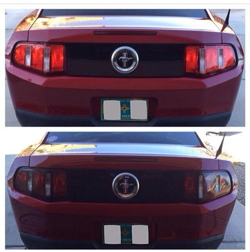 Mustang SVE Smoked Tail Light Tint (10-12)