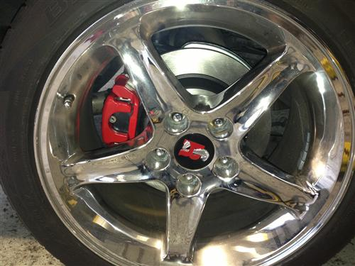 Mustang SVE Cobra Rear Brake Conversion Red (94-04)