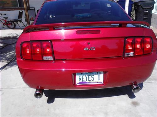 Mustang 4.0L Fender Emblem Chrome (05-10)