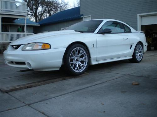 Mustang SVE Drift Wheel & Nitto Tire Kit - 18X9 Silver (94-04)